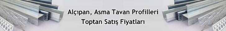 Toptan Alçıpan Asma Tavan Bölme Duvar Profilleri