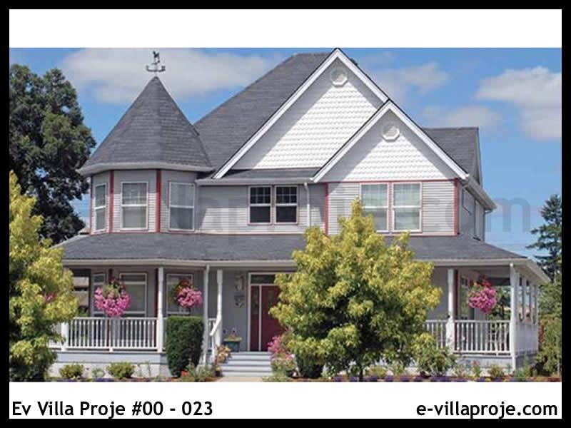 Ev Villa Proje #00 – 023, 2 katlı, 3 yatak odalı, 1 garajlı, 213 m2