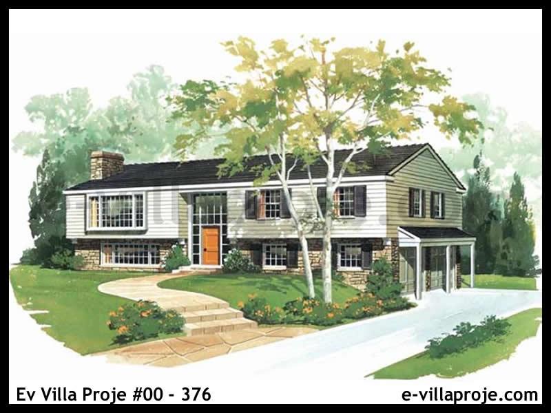 Ev Villa Proje #00 – 376, 2 katlı, 3 yatak odalı, 2 garajlı, 193 m2