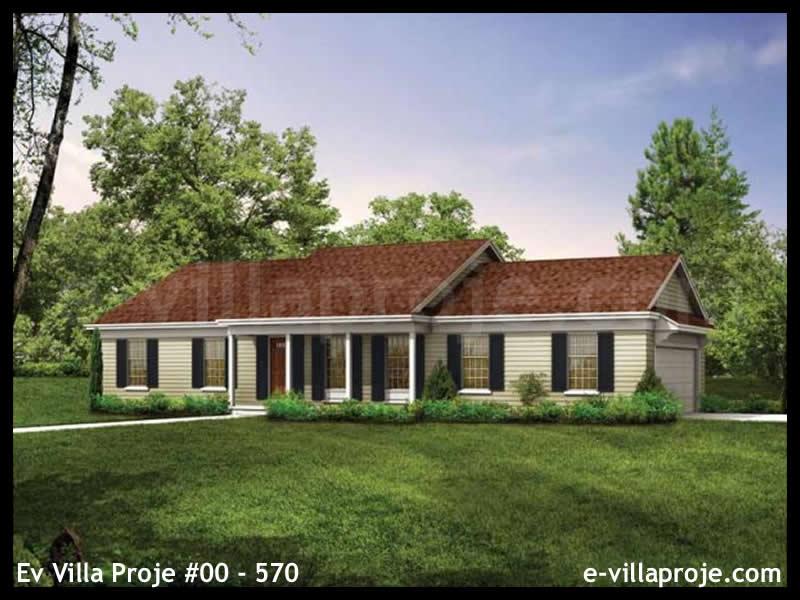 Ev Villa Proje #00 – 570, 1 katlı, 3 yatak odalı, 2 garajlı, 139 m2