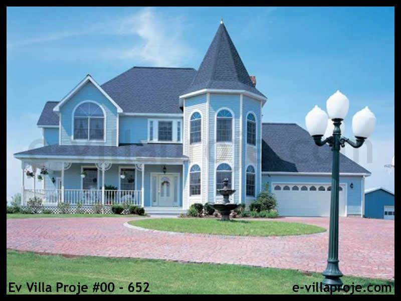 Ev Villa Proje #00 – 652, 2 katlı, 4 yatak odalı, 2 garajlı, 225 m2