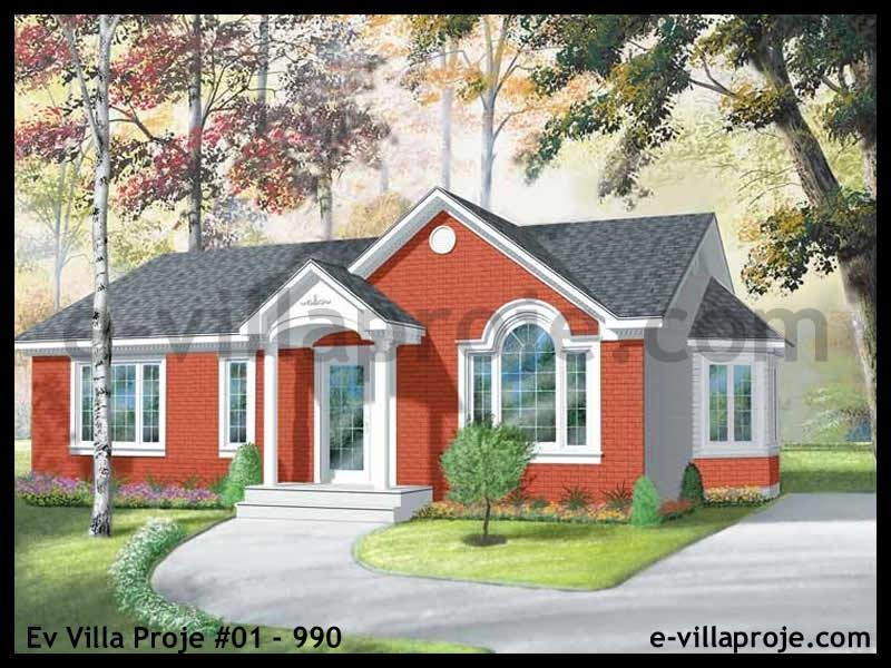Ev Villa Proje #01 – 990, 1 katlı, 3 yatak odalı, 0 garajlı, 102 m2