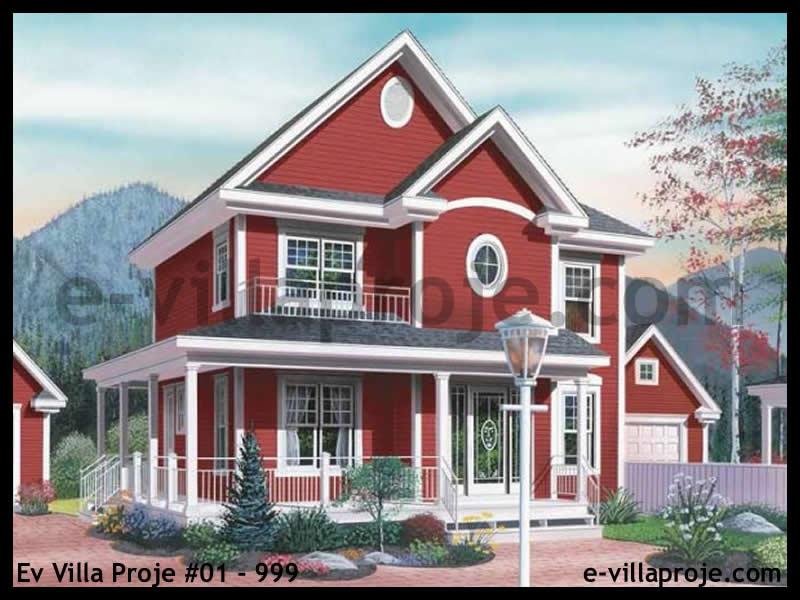 Ev Villa Proje #01 – 999, 2 katlı, 3 yatak odalı, 0 garajlı, 145 m2