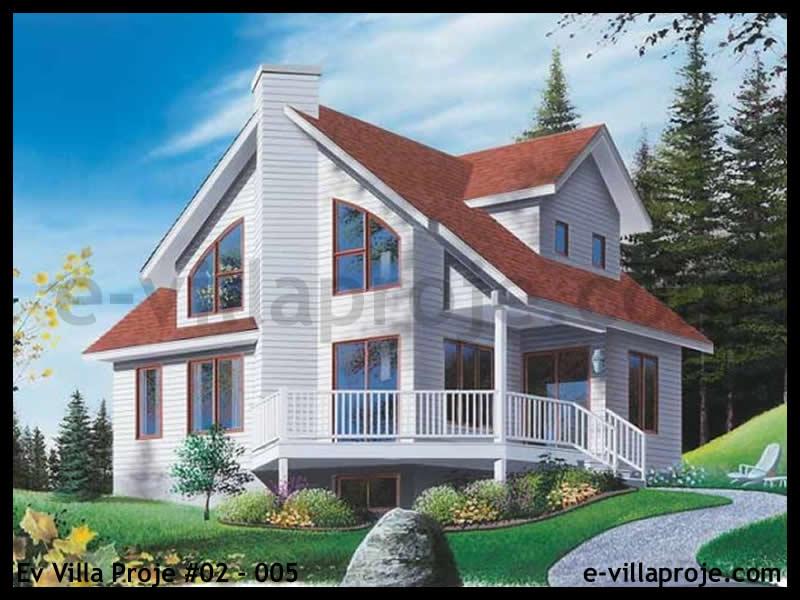 Ev Villa Proje #02 – 005, 2 katlı, 2 yatak odalı, 0 garajlı, 116 m2