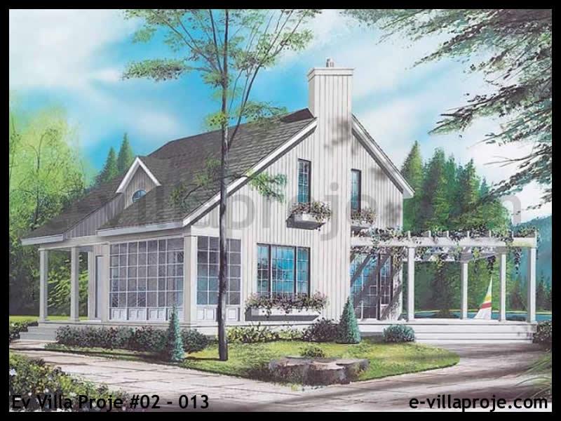 Ev Villa Proje #02 – 013, 2 katlı, 2 yatak odalı, 0 garajlı, 97 m2