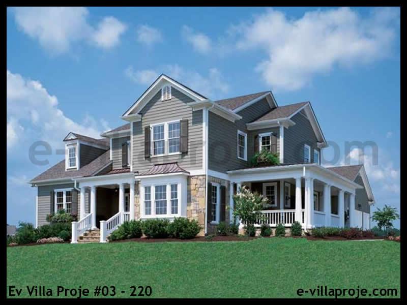 Ev Villa Proje #03 – 220, 2 katlı, 4 yatak odalı, 2 garajlı, 256 m2
