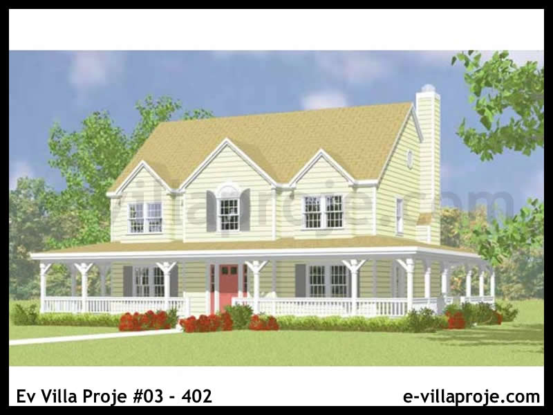 Ev Villa Proje #03 – 402, 2 katlı, 4 yatak odalı, 2 garajlı, 207 m2