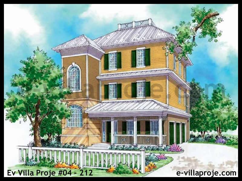 Ev Villa Proje #04 – 212, 3 katlı, 3 yatak odalı, 3 garajlı, 185 m2