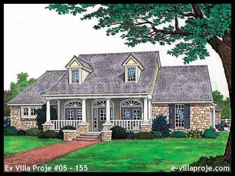 Ev Villa Proje #05 – 155, 1 katlı, 3 yatak odalı, 3 garajlı, 215 m2