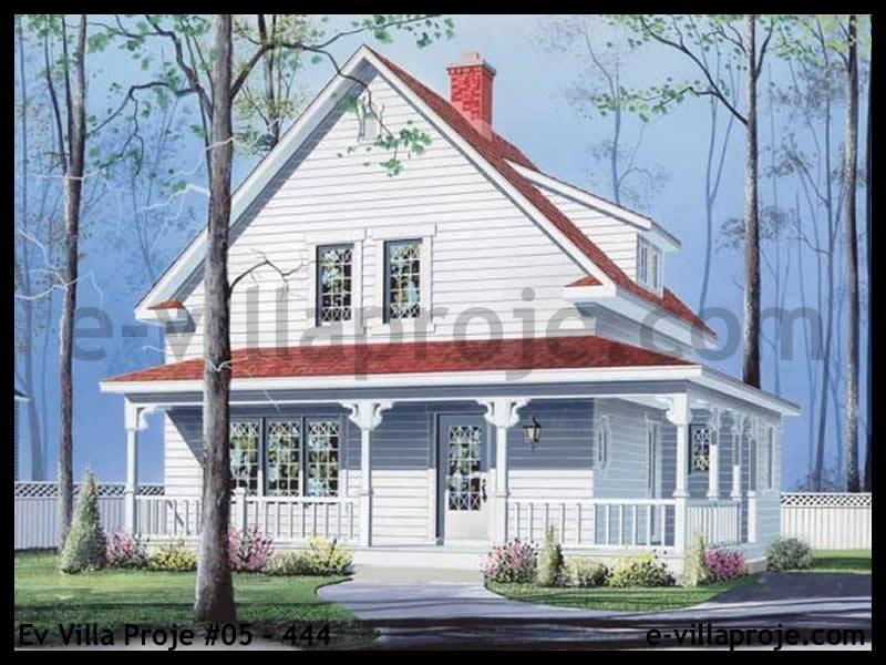 Ev Villa Proje #05 – 444, 2 katlı, 3 yatak odalı, 0 garajlı, 136 m2