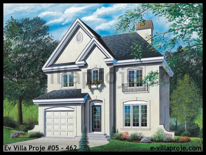 Ev Villa Proje #05 – 462, 2 katlı, 3 yatak odalı, 1 garajlı, 152 m2