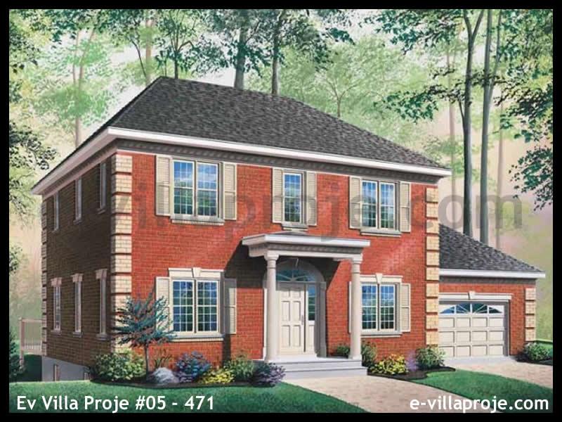 Ev Villa Proje #05 – 471, 2 katlı, 3 yatak odalı, 1 garajlı, 207 m2
