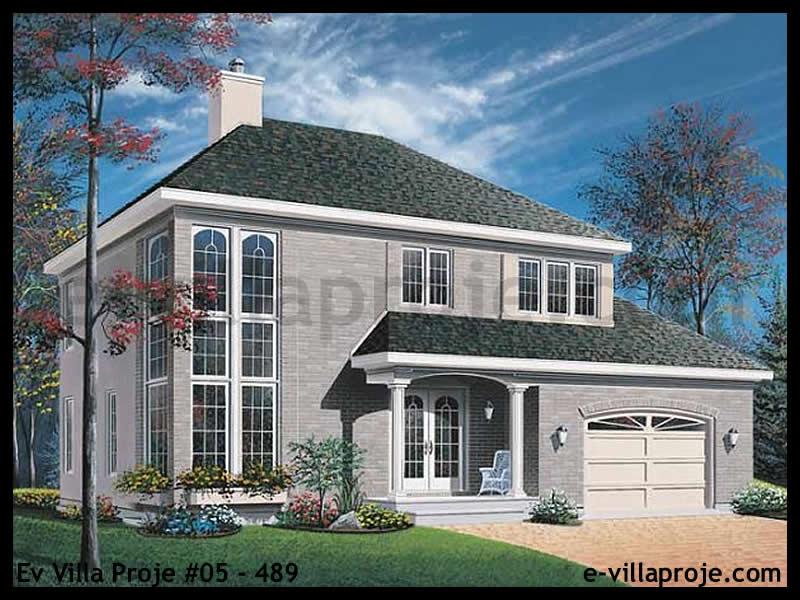 Ev Villa Proje #05 – 489, 2 katlı, 4 yatak odalı, 1 garajlı, 175 m2