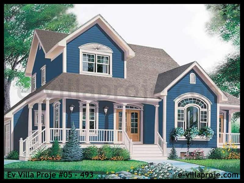 Ev Villa Proje #05 – 493, 2 katlı, 3 yatak odalı, 2 garajlı, 221 m2