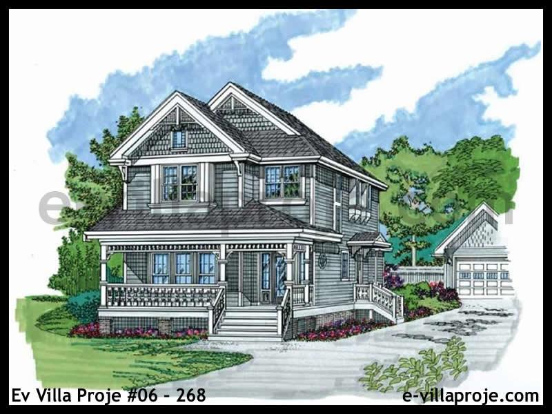 Ev Villa Proje #06 – 268, 2 katlı, 3 yatak odalı, 0 garajlı, 200 m2
