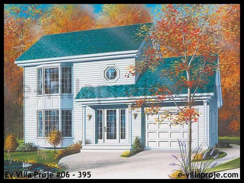 Ev Villa Proje #06 – 395, 2 katlı, 3 yatak odalı, 1 garajlı, 130 m2