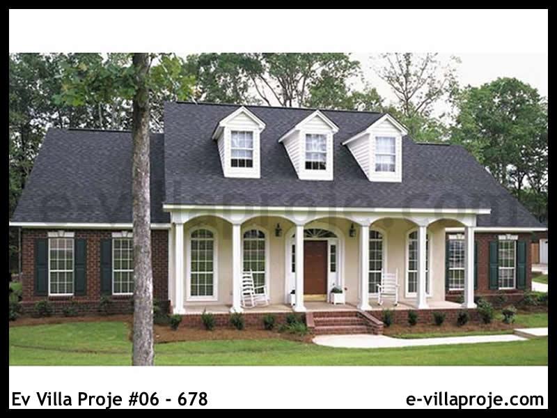Ev Villa Proje #06 – 678, 2 katlı, 3 yatak odalı, 2 garajlı, 267 m2