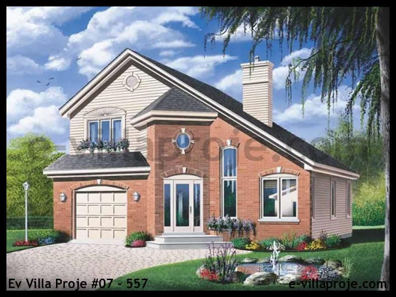 Ev Villa Proje #07 – 557, 2 katlı, 3 yatak odalı, 1 garajlı, 145 m2