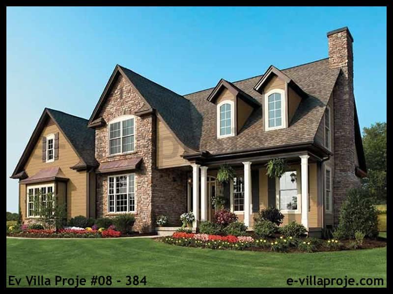 Ev Villa Proje #08 – 384, 2 katlı, 3 yatak odalı, 2 garajlı, 228 m2