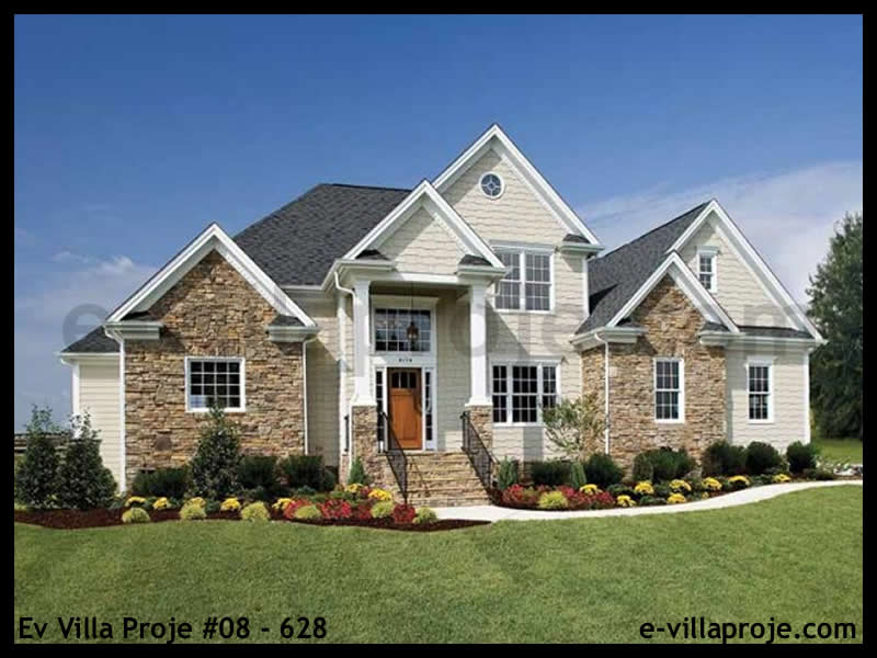 Ev Villa Proje #08 – 628, 2 katlı, 3 yatak odalı, 2 garajlı, 194 m2