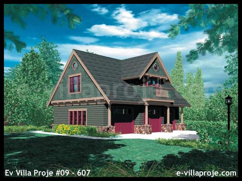 Ev Villa Proje #09 – 607, 2 katlı, 2 yatak odalı, 3 garajlı, 82 m2