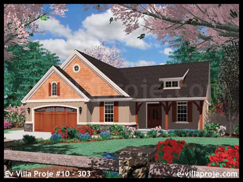 Ev Villa Proje #10 – 303, 1 katlı, 2 yatak odalı, 2 garajlı, 178 m2