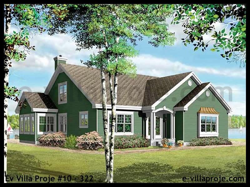 Ev Villa Proje #10 – 322, 2 katlı, 3 yatak odalı, 2 garajlı, 202 m2