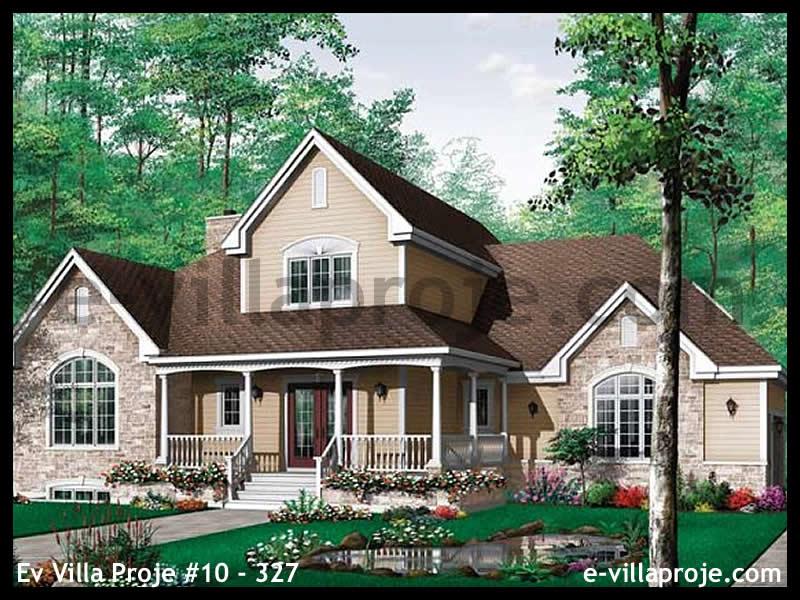 Ev Villa Proje #10 – 327, 2 katlı, 3 yatak odalı, 2 garajlı, 229 m2