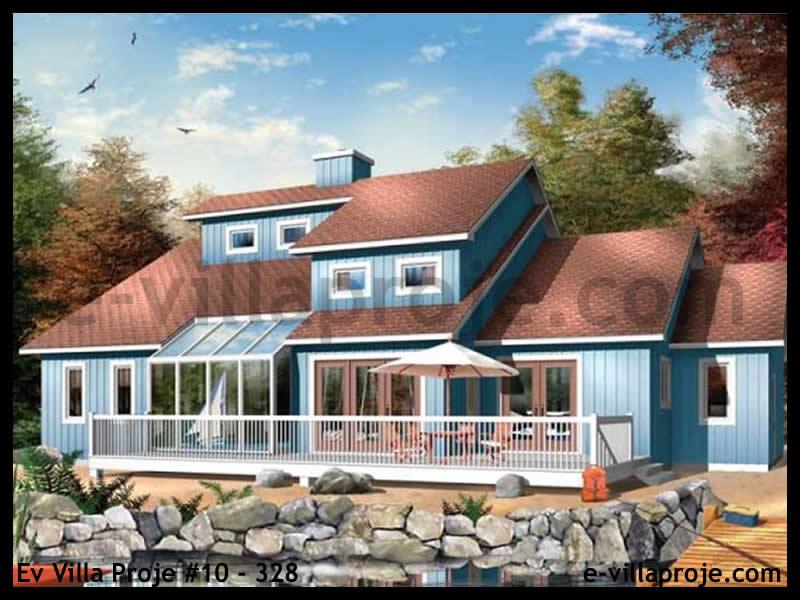 Ev Villa Proje #10 – 328, 2 katlı, 3 yatak odalı, 2 garajlı, 190 m2