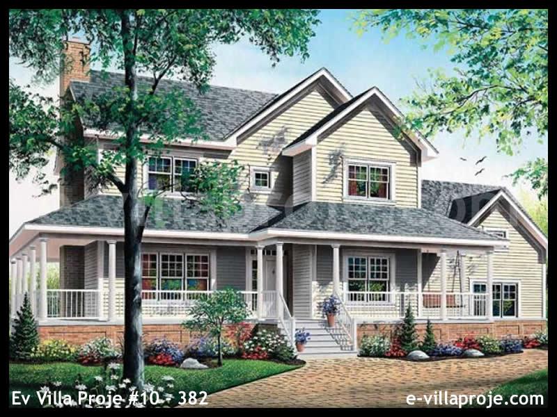 Ev Villa Proje #10 – 382, 2 katlı, 3 yatak odalı, 2 garajlı, 229 m2