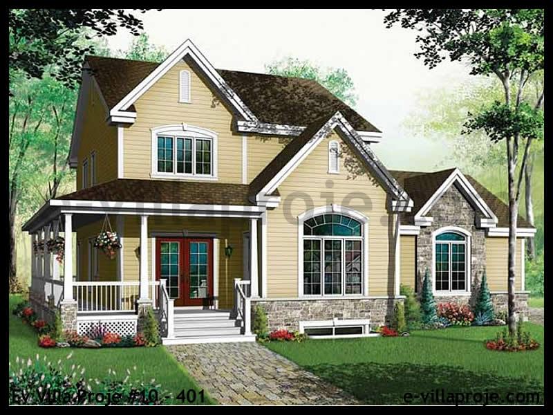 Ev Villa Proje #10 – 401, 2 katlı, 3 yatak odalı, 2 garajlı, 203 m2