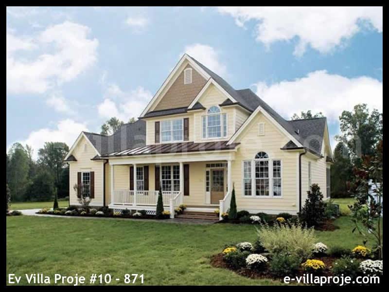 Ev Villa Proje #10 – 871, 2 katlı, 4 yatak odalı, 2 garajlı, 234 m2