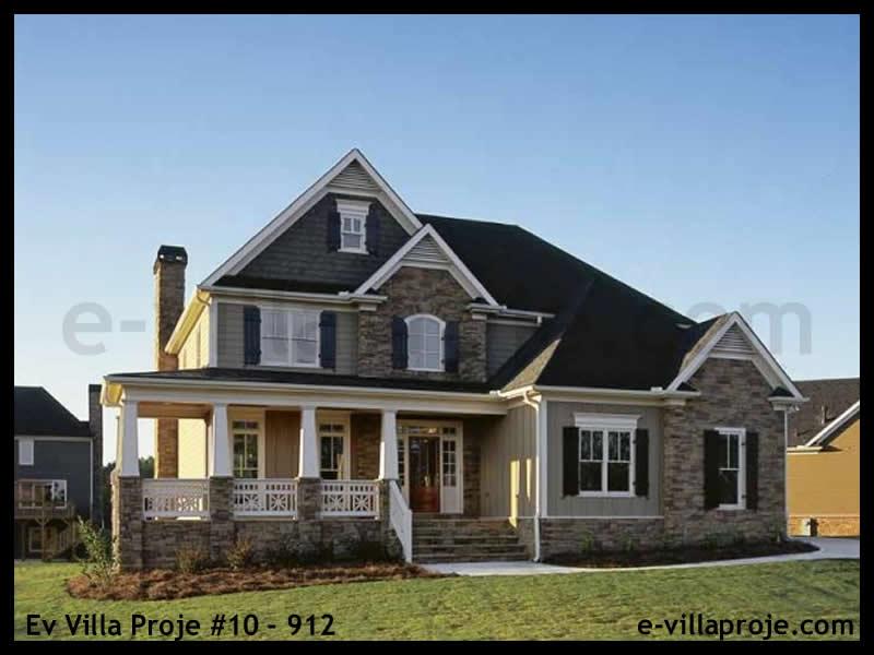 Ev Villa Proje #10 – 912, 2 katlı, 4 yatak odalı, 2 garajlı, 220 m2