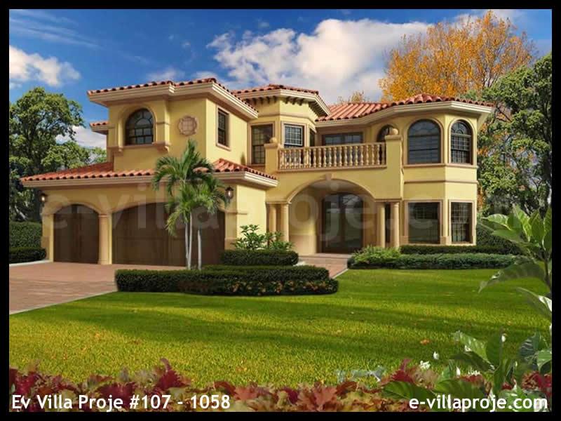 Ev Villa Proje #107 – 1058, 2 katlı, 6 yatak odalı, 3 garajlı, 556 m2