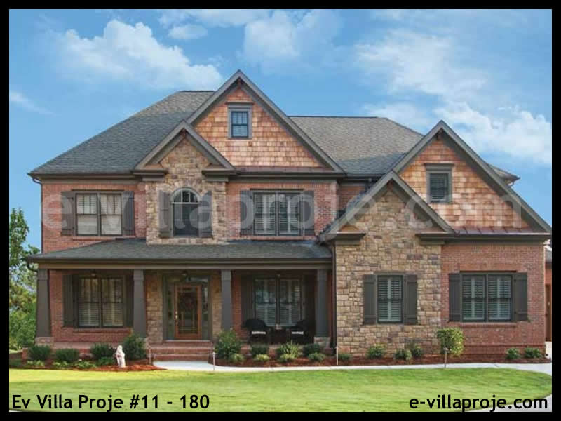 Ev Villa Proje #11 – 180, 2 katlı, 5 yatak odalı, 2 garajlı, 290 m2