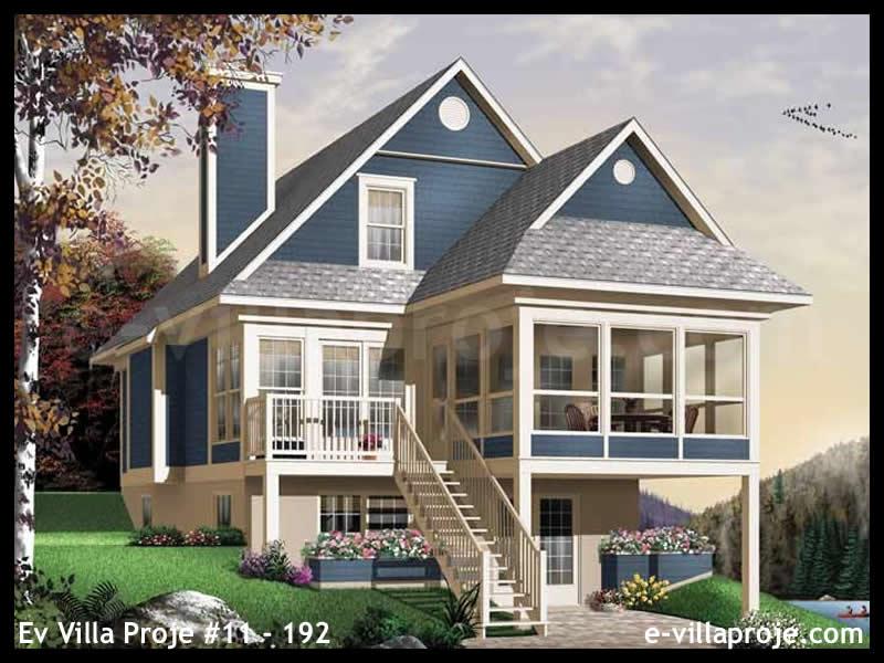 Ev Villa Proje #11 – 192, 2 katlı, 3 yatak odalı, 0 garajlı, 134 m2