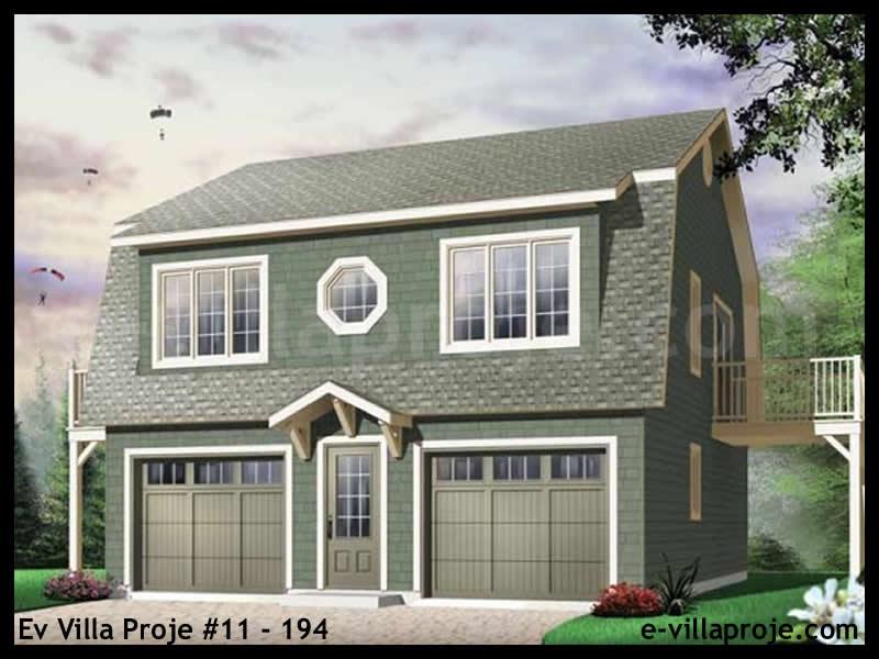 Ev Villa Proje #11 – 194, 2 katlı, 2 yatak odalı, 2 garajlı, 178 m2