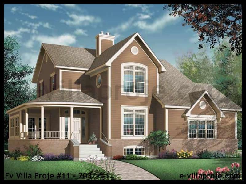 Ev Villa Proje #11 – 203, 2 katlı, 4 yatak odalı, 2 garajlı, 189 m2