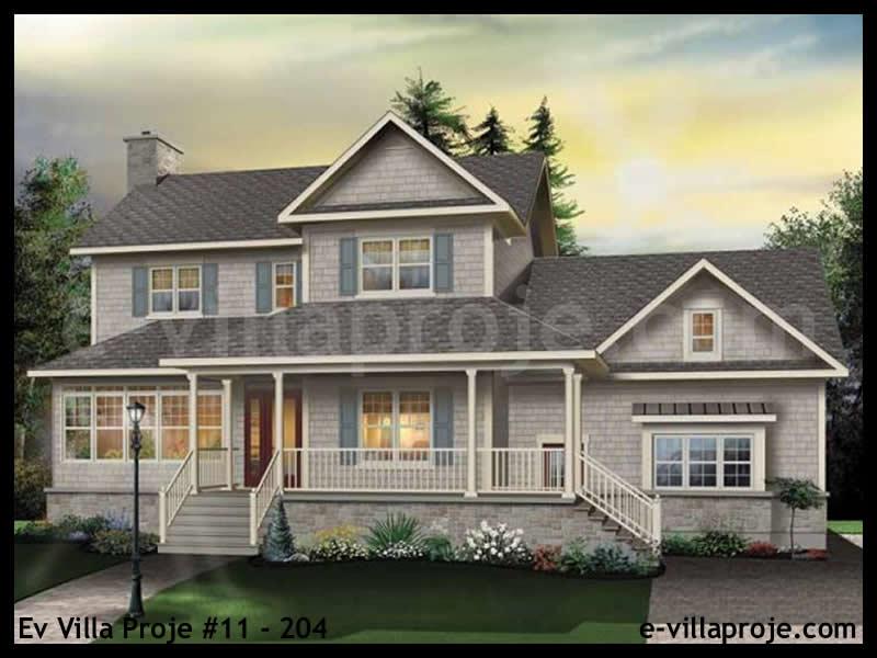 Ev Villa Proje #11 – 204, 2 katlı, 3 yatak odalı, 2 garajlı, 230 m2
