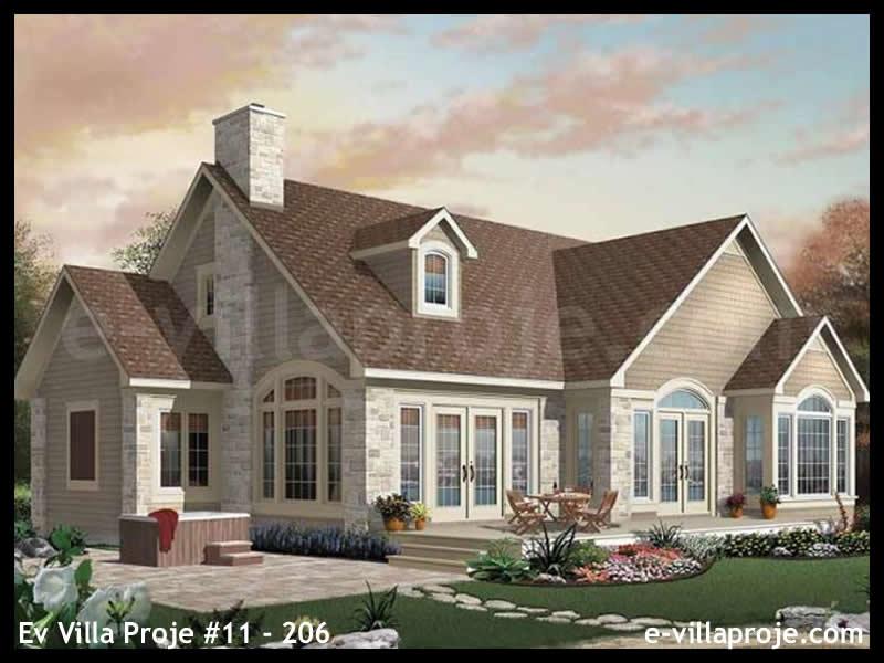 Ev Villa Proje #11 – 206, 2 katlı, 4 yatak odalı, 2 garajlı, 184 m2