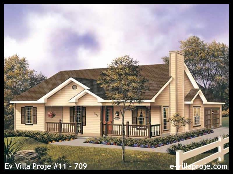 Ev Villa Proje #11 – 709, 1 katlı, 3 yatak odalı, 2 garajlı, 136 m2