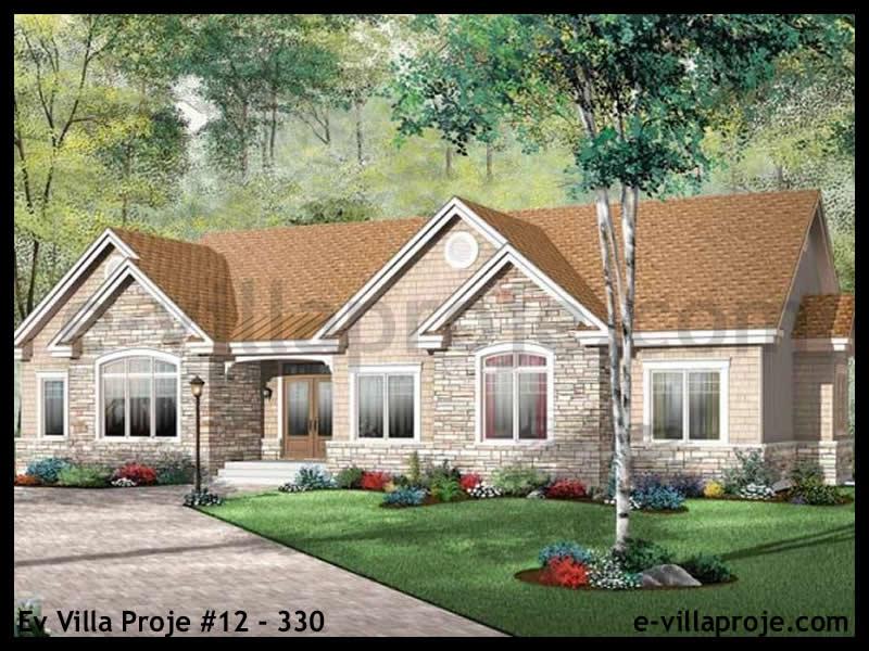 Ev Villa Proje #12 – 330, 1 katlı, 3 yatak odalı, 2 garajlı, 170 m2