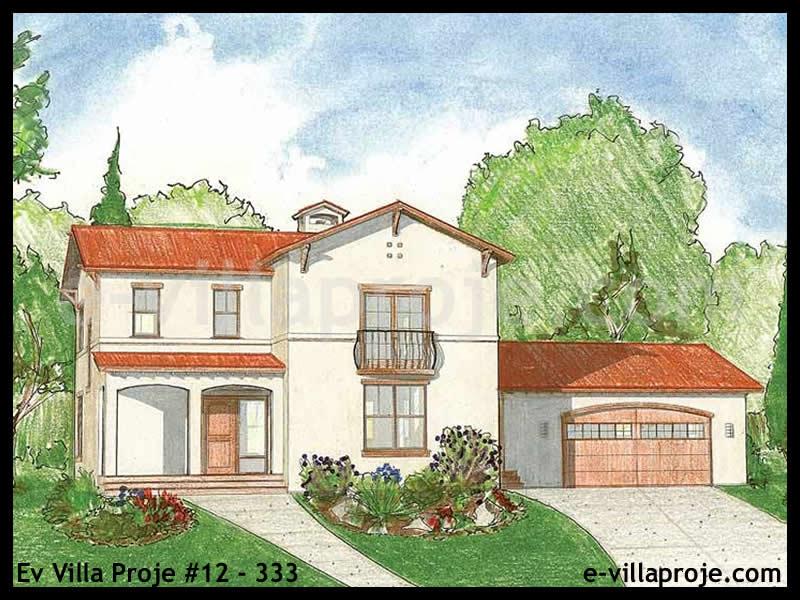 Ev Villa Proje #12 – 333, 2 katlı, 3 yatak odalı, 2 garajlı, 193 m2