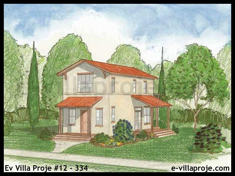 Ev Villa Proje #12 – 334, 2 katlı, 2 yatak odalı, 0 garajlı, 114 m2