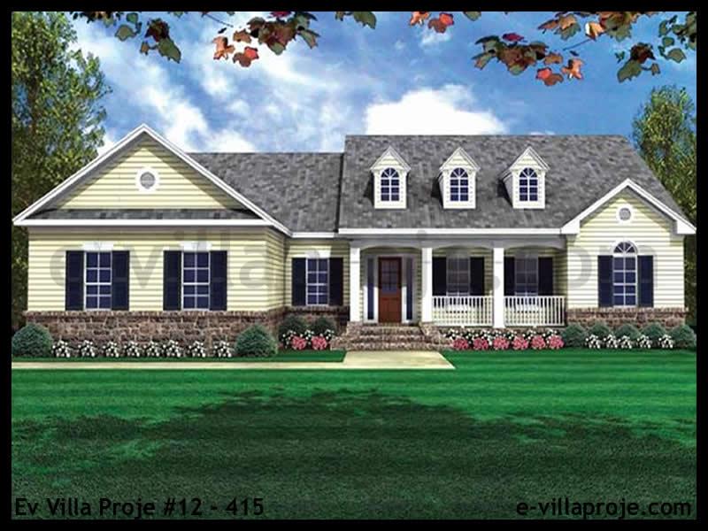 Ev Villa Proje #12 – 415, 1 katlı, 3 yatak odalı, 2 garajlı, 182 m2