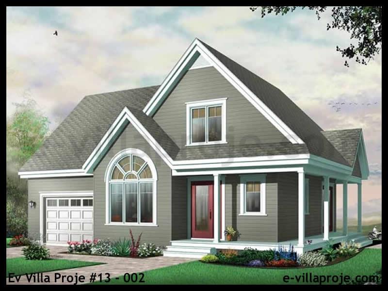 Ev Villa Proje #13 – 002, 2 katlı, 3 yatak odalı, 1 garajlı, 132 m2