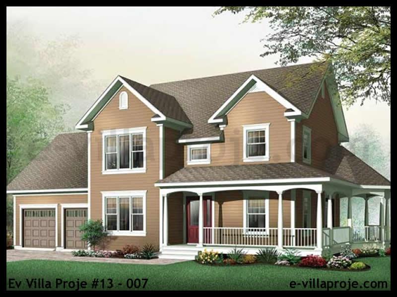 Ev Villa Proje #13 – 007, 2 katlı, 3 yatak odalı, 2 garajlı, 183 m2