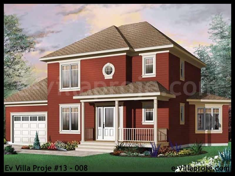 Ev Villa Proje #13 – 008, 2 katlı, 3 yatak odalı, 1 garajlı, 150 m2