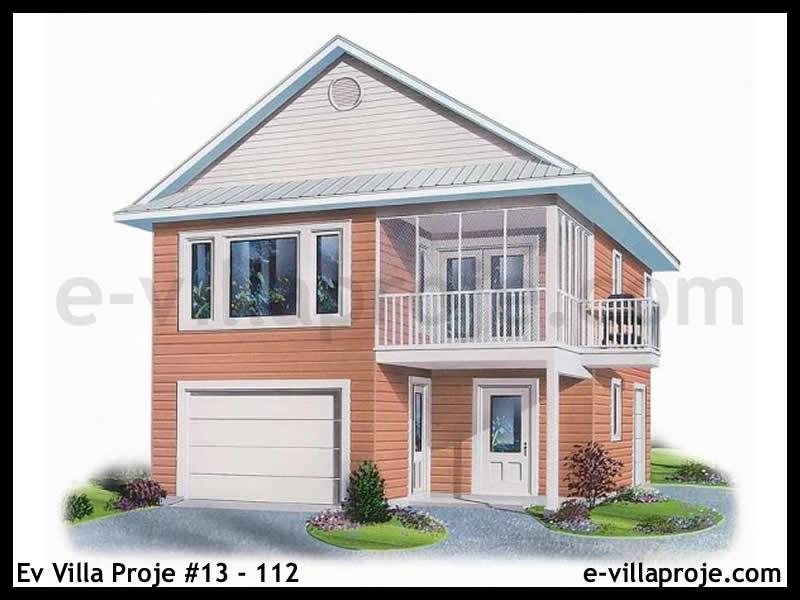 Ev Villa Proje #13 – 112, 2 katlı, 2 yatak odalı, 1 garajlı, 97 m2