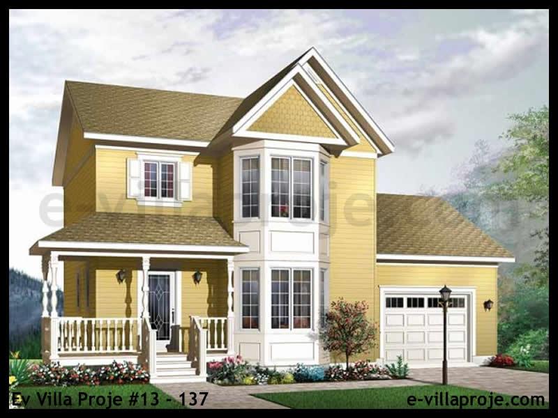 Ev Villa Proje #13 – 137, 2 katlı, 3 yatak odalı, 1 garajlı, 116 m2